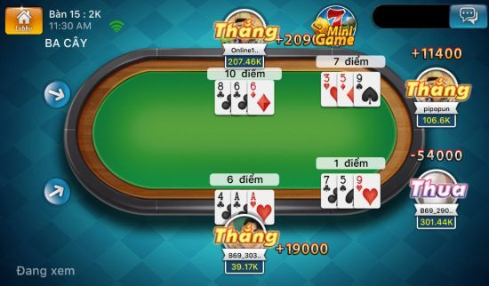 game danh bai 3cay online