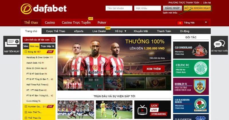 Cách cá cược thể thao trực tuyến tại Dafabet an toàn thắng lớn