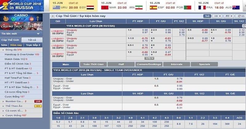 BET169 – Tỷ lệ cược bóng đá nhanh nhất thị trường
