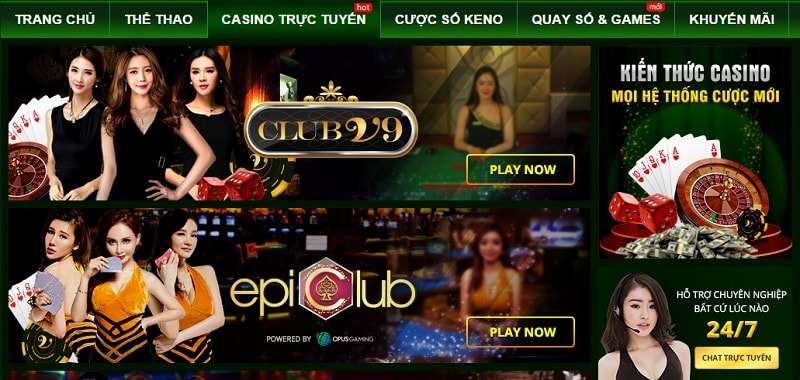 V9bet casino trực tuyến – nhà cái cá cược hot nhất
