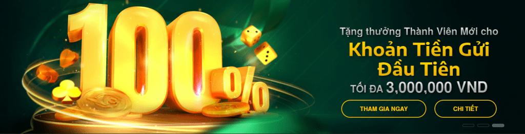 Khuyến mãi V9bet - tặng 100% khoản tiền gửi đầu tiên